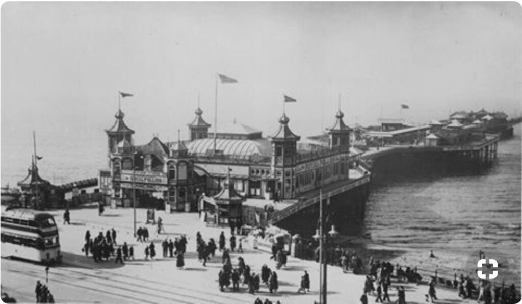 Entrance to Blackpool Central Pier in the 1930s