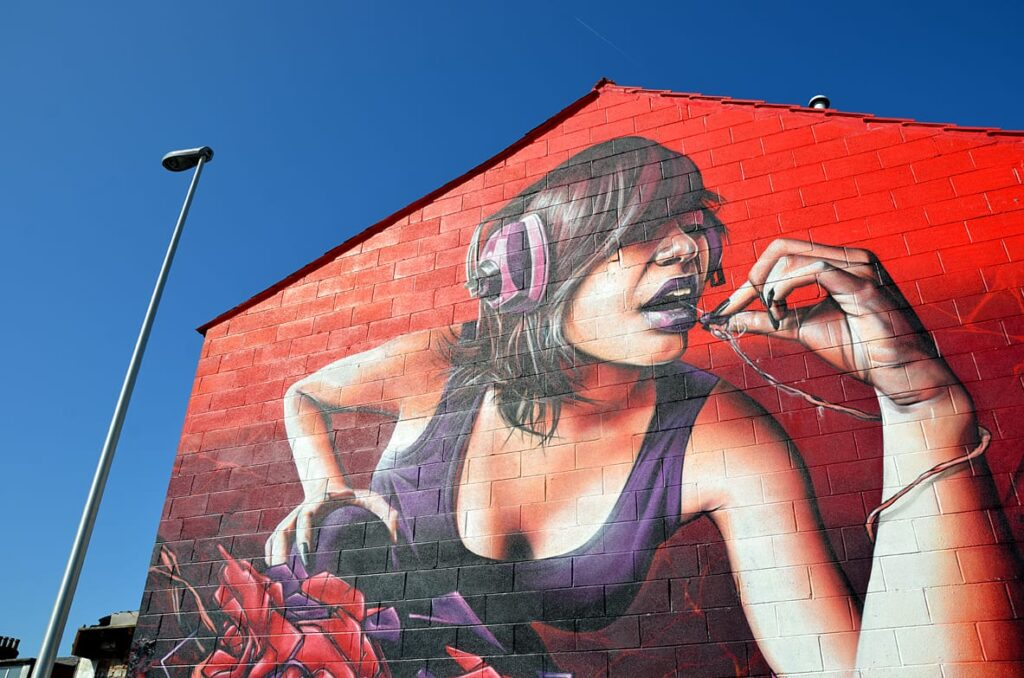 One of the first pieces of urban art in Blackpool, dating back to 2012