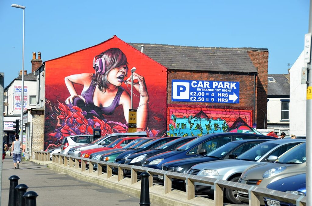 Street art in Blackpool - from 2012
