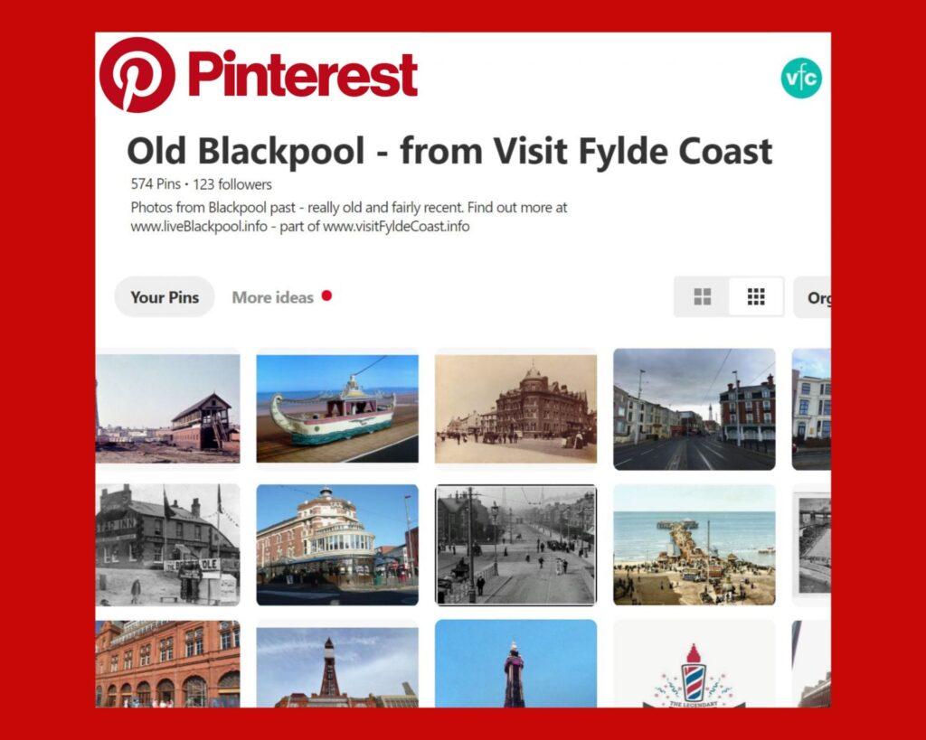 Old Blackpool Pinterest Board from Visit Fylde Coast