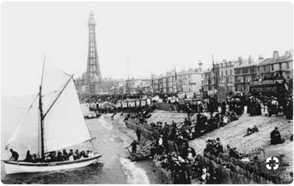 Blackpool seafront, seen from Central Pier