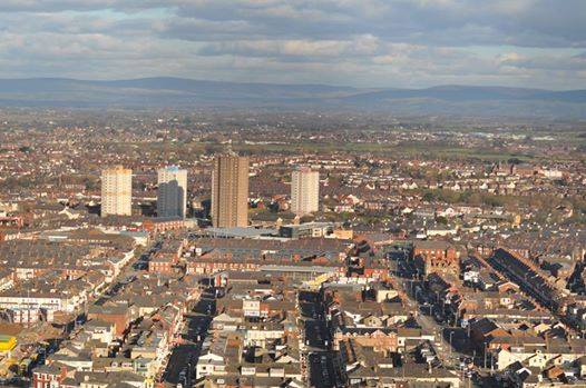 The tower blocks seen from the Blackpool Tower. Photo: Juliette Gregson