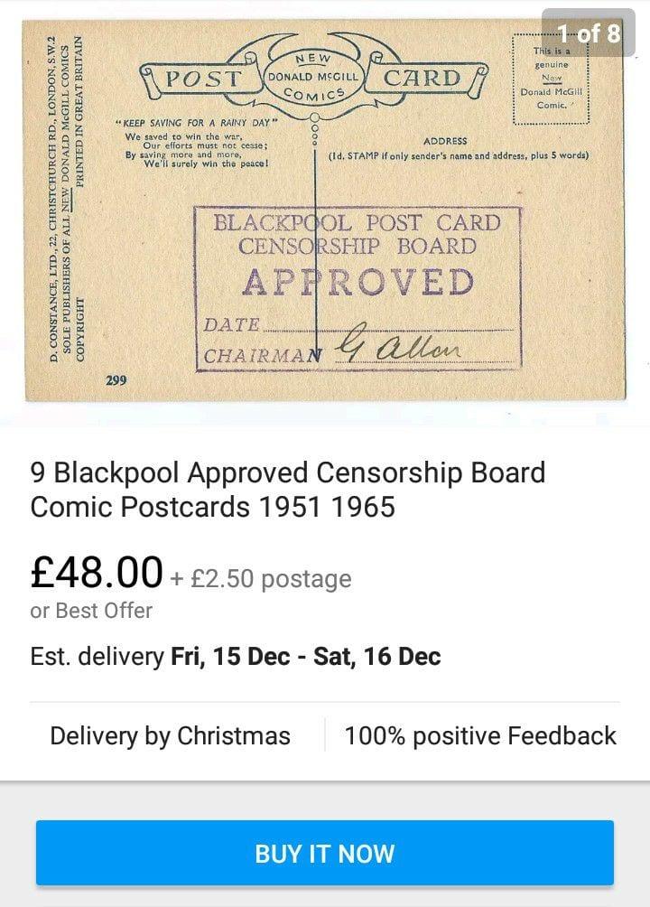 Approved Blackpool seaside postcards for sale on eBay