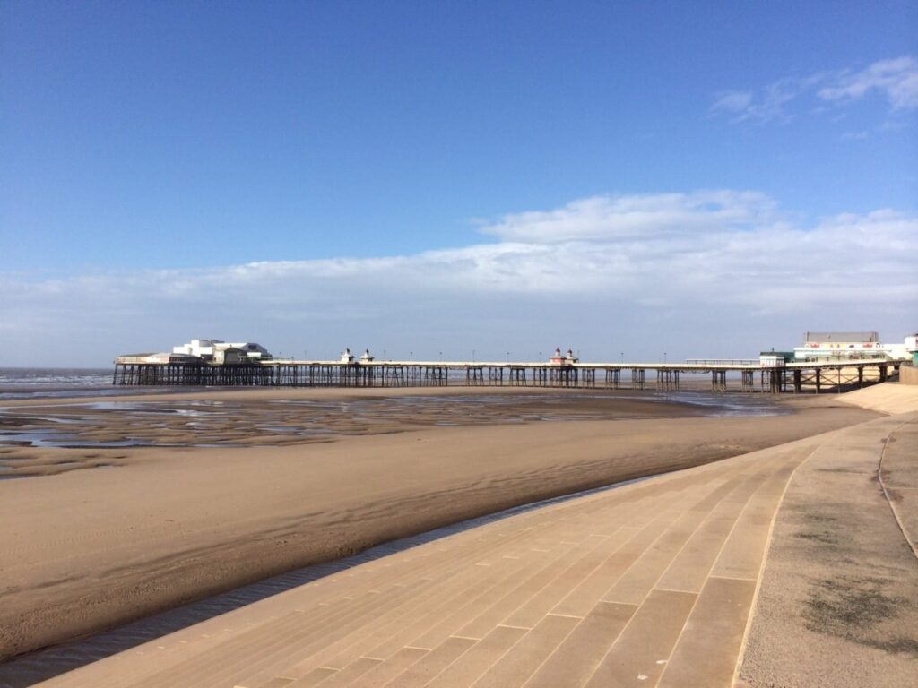 Blackpool Central Beach and North Pier