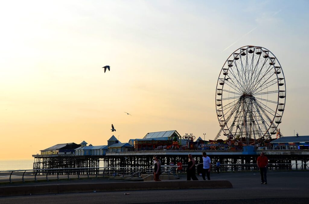 Blackpool Central Pier with the Big Wheel