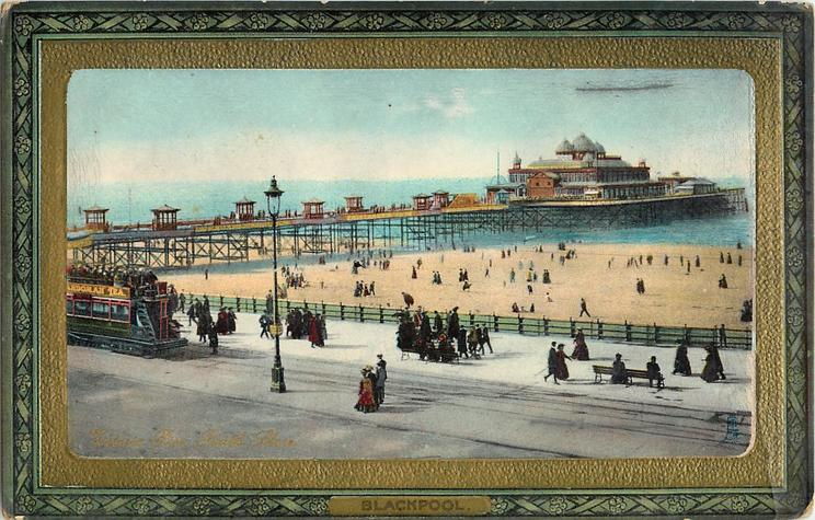 Victoria Pier Blackpool in 1902. Tuck Postcards