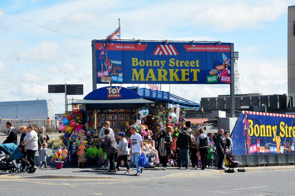 Bonny Street Market in Blackpool Town Centre