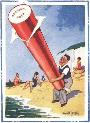 Saucy Seaside Postcard by Donald McGill