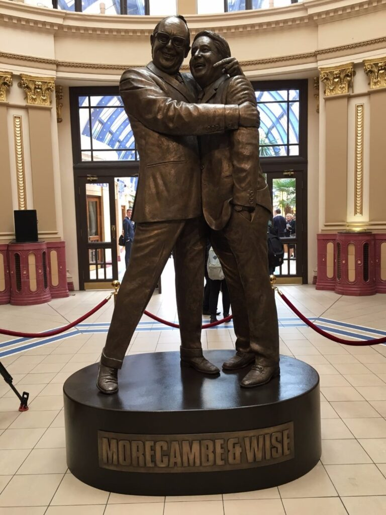 Morecambe & Wise statue at Blackpool Winter Gardens