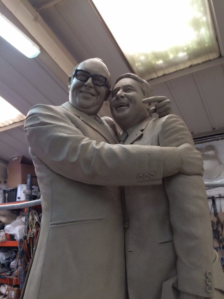 The statue in production