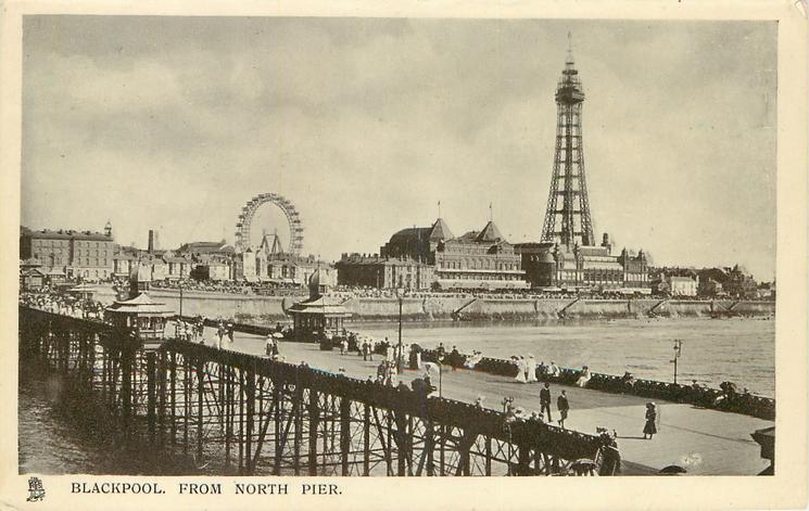 North Pier in 1908, Tuck Postcards