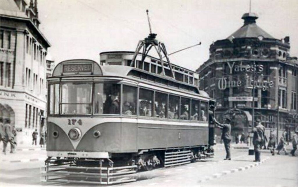 Old tram on Talbot Road