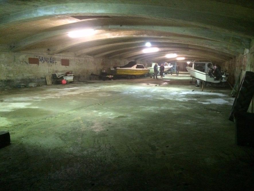 Underground Boat Store at Little Bispham