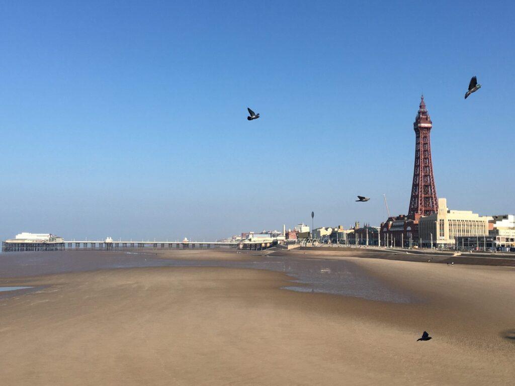 Blackpool central beach