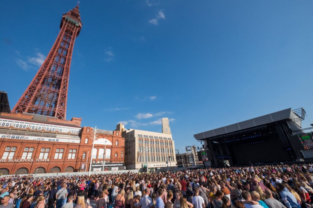 Crowds at the annual event in Blackpool