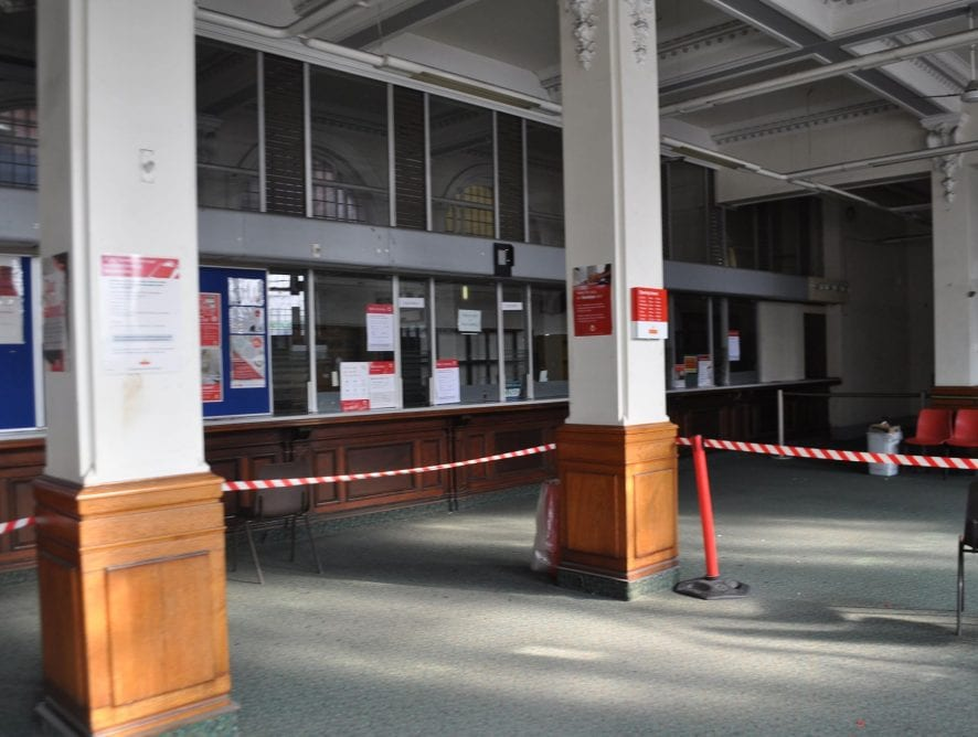 Blackpool Post Office Counter, before it closed