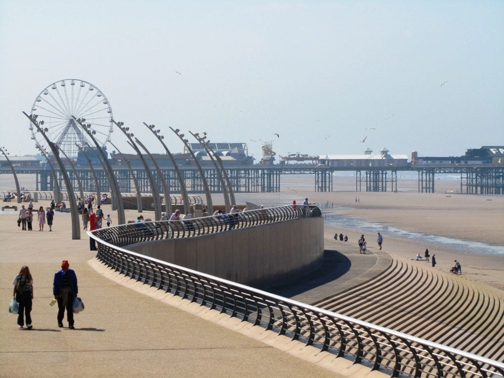 Blackpool seafront at Tower Festival Headland