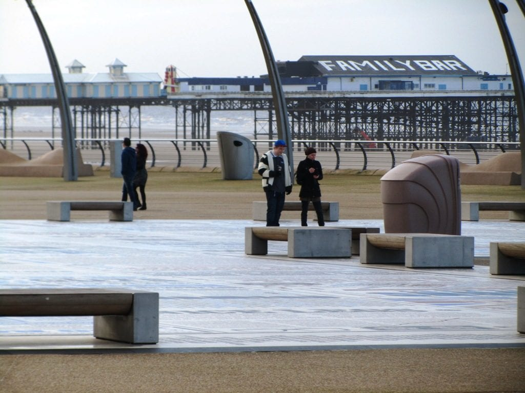 Blackpool promenade in winter