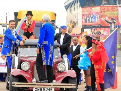Blackpool Tower Circus Parade on 12 July 2018