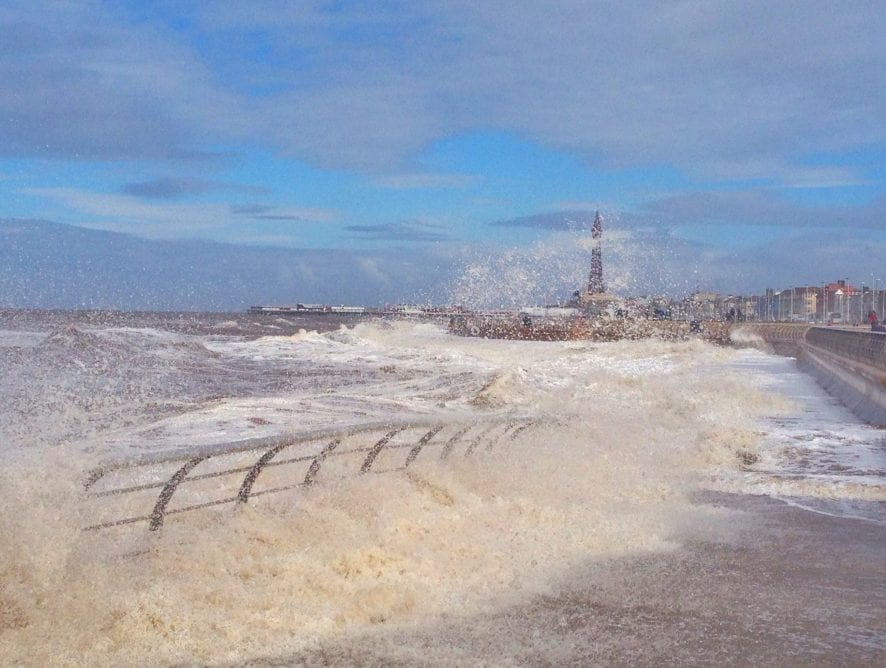 High Tide in Blackpool, by Andrew Hudson (7.4.16)
