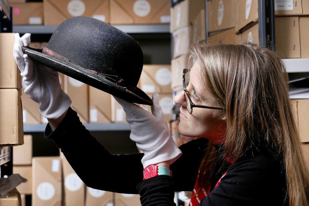 Stan Laurel Bowler Hat Photo Lorne Campbell Guzelian, Blackpool Museum Project