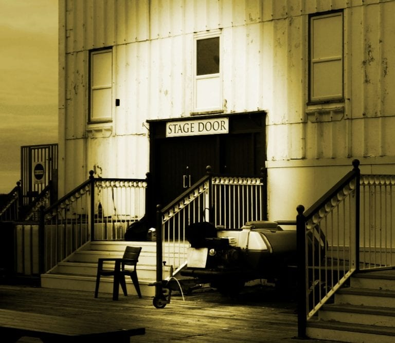 Stage Door at North Pier by Alan Coates