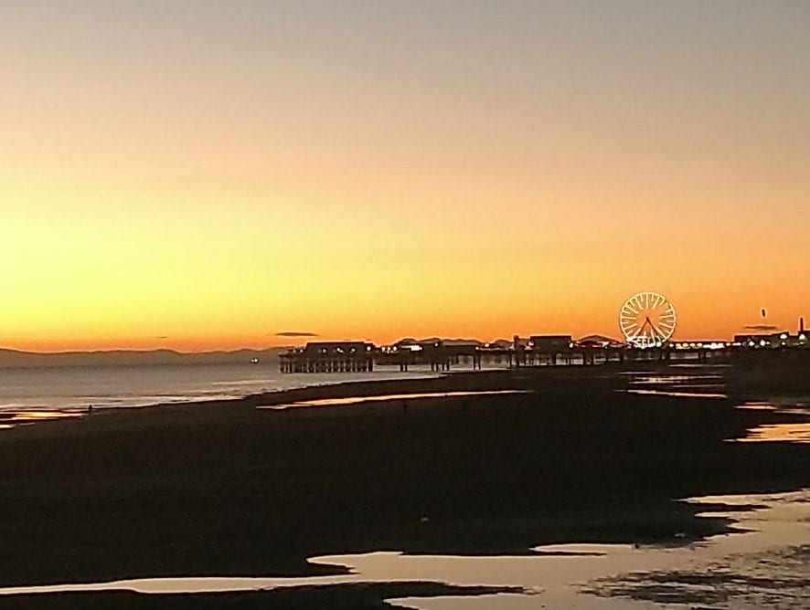 Blackpool View at sunset by Neil Curtis from Wolverhampton