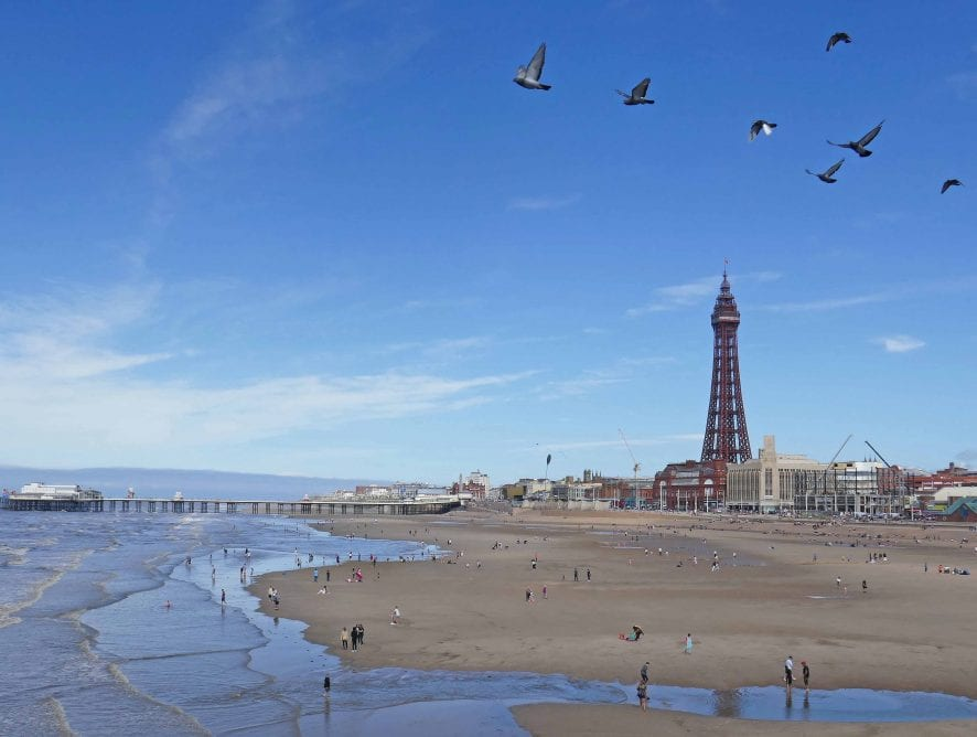 Blackpool from Central Pier, by Sue Massey