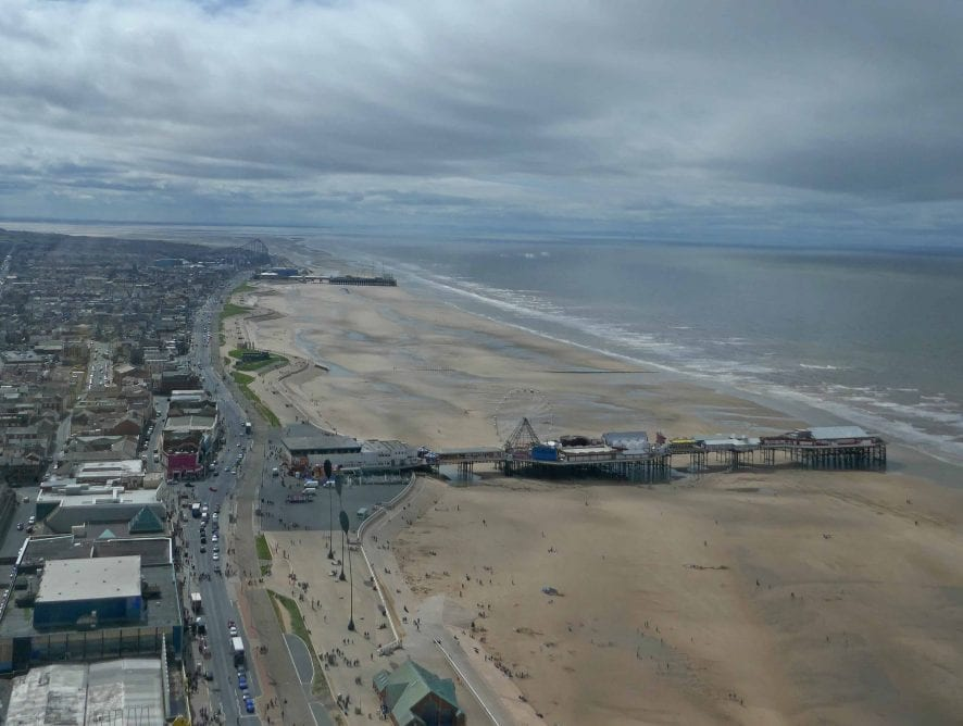 View South from the top of Blackpool Tower. Photo: Sue Massey