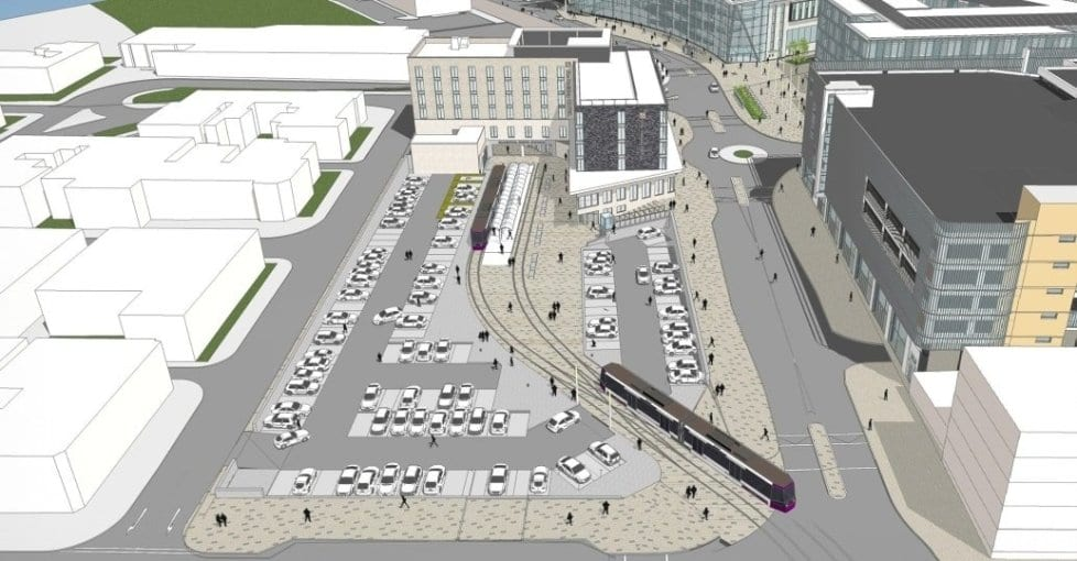 Plans for a new tram hub at Talbot Road