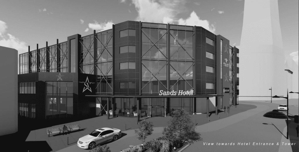 Artist's impression of the new Sands Resort Hotel on Blackpool's Golden Mile