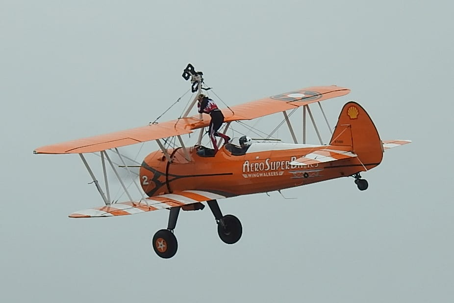 AeroSuperBatics Wing-Walkers. Photo: Barrie C Woods