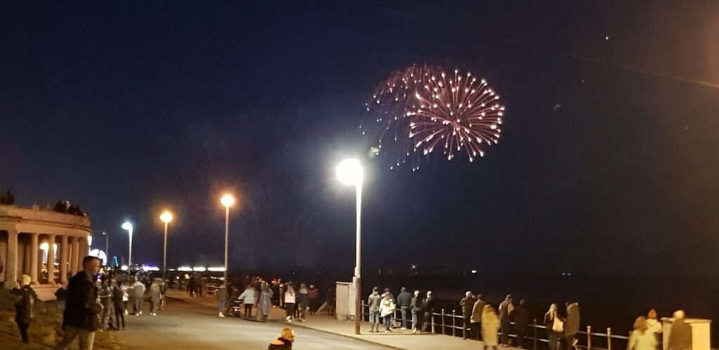 Blackpool World Firework Championships week 2, seen from the colonnades. Photo: Jackie Kenworthy