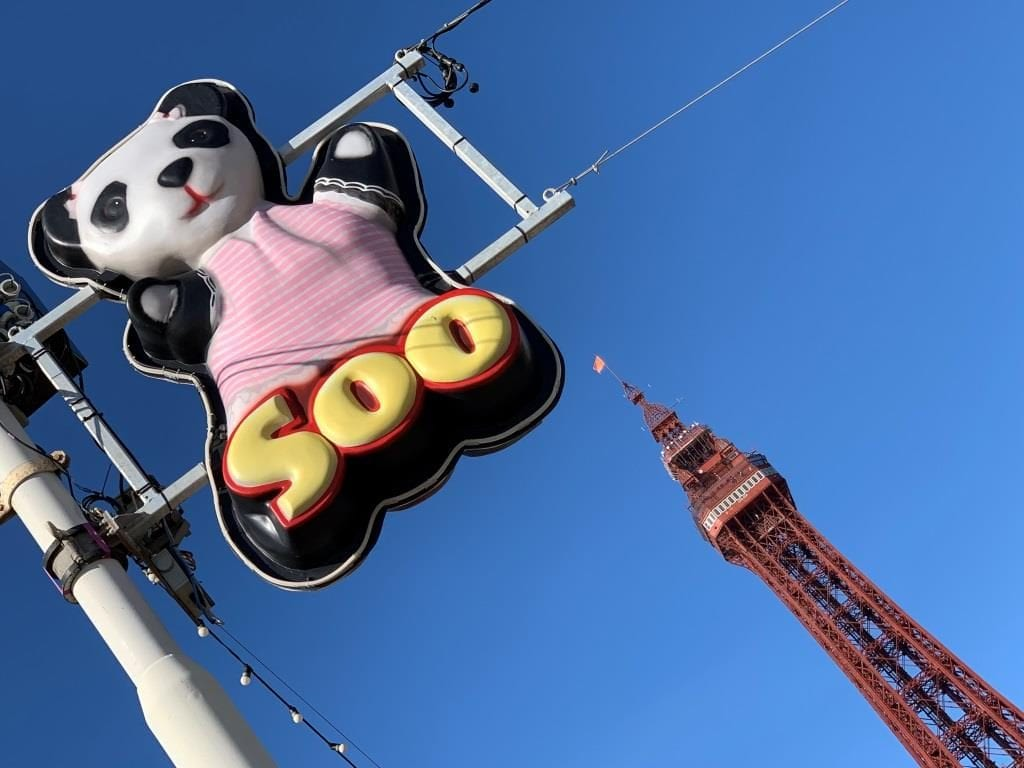 Soo featuring in the Blackpool Illuminations near Central Pier