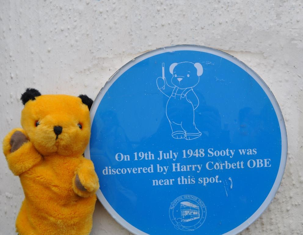 Sooty with his plaque in the original place at Blackpool North Pier. Photo: Juliette Gregson