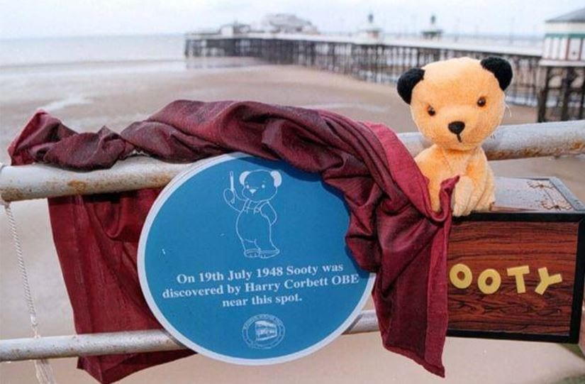 Sooty and his Blue Plaque