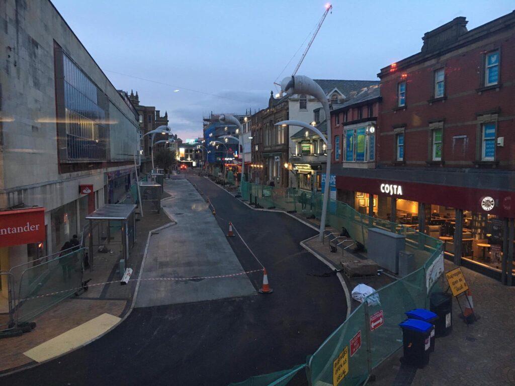 Works underway at Corporation Street